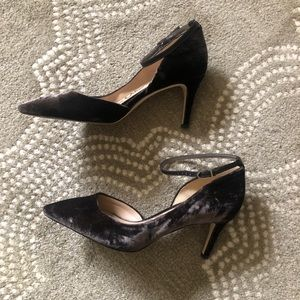 Sam Edelman Brown velvet heels